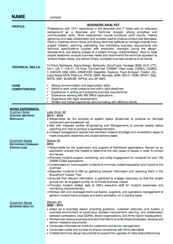 Sample Resumes For Your Viewing Pleasure